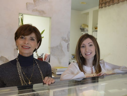 Kelly La Torre, right, poses with her mother-in-law, Stela Barzache, at Alpha Delights European Bakery and Cafe, De Pere. La Torre is the restaurant's new owner.