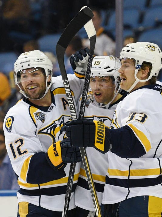 Mike Fisher, Craig Smith, Colin Wilson