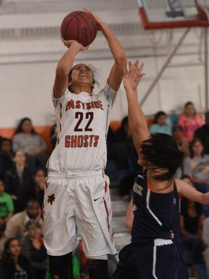 Sophomore forward Andrea Aquino and Eastside received the No. 1 seed in the Passaic County Tournament. The Lady Ghosts have won three straight county titles.