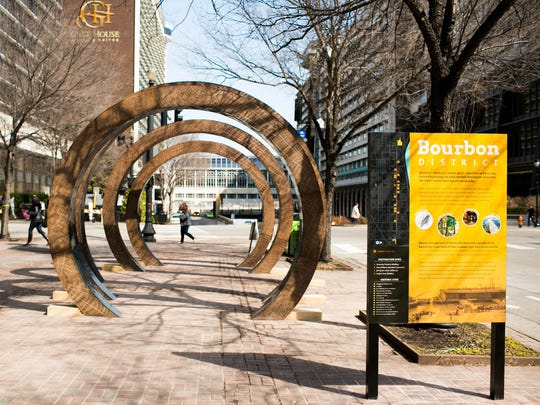 'The Barrel,' an 11-foot-tall art installation, marks
