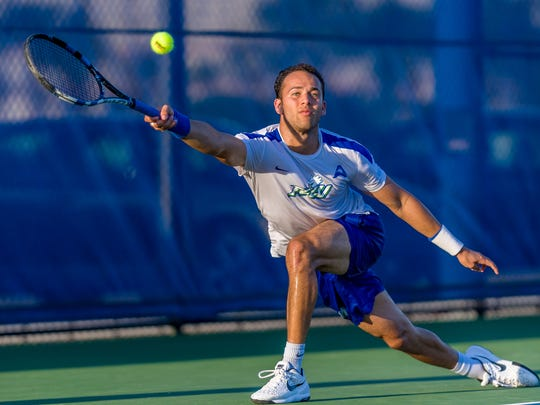 No. 5 Andres Alfonzo is FGCU's lone senior.