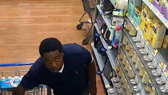 A suspect in baby formula theft from Wal-Mart stores.