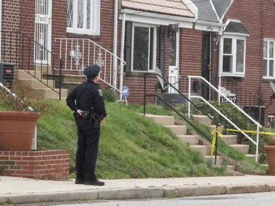 Wilmington Police respond to a shooting in the 2300 block of N. Claymont Street that killed Yaseem Powell March, 28, 2017.