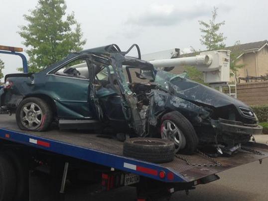 Car Crash Holman Road