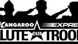 Kangaroo Salute our Troops campaign logo.