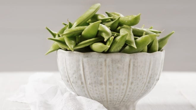 Sugar peas are a great addition to a spring salad.