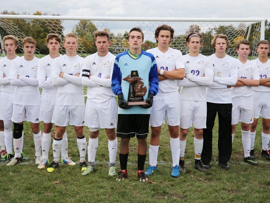 Plymouth Christian Academy Friday won a district championship