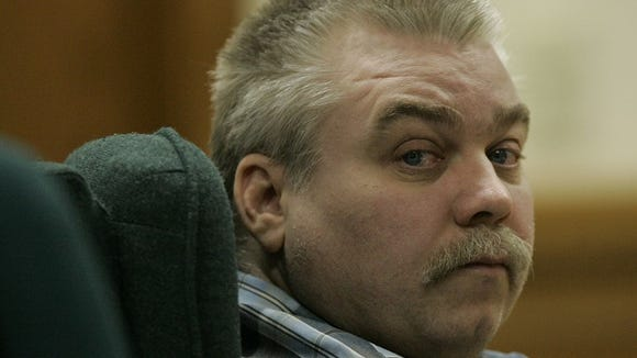 Steven Avery listens to testimony in the courtroom