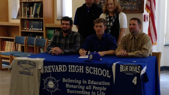 Brevard senior Alec DuBreuil has signed to play baseball