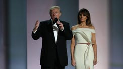 President Donald Trump and first lad Melania Trump