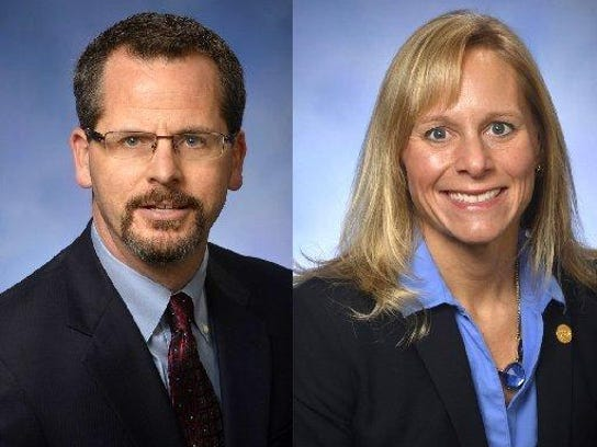 Former state Reps. Todd Courser and Cindy Gamrat