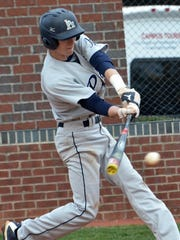 Pope John Paul II's Jake Rucker ropes a single up the