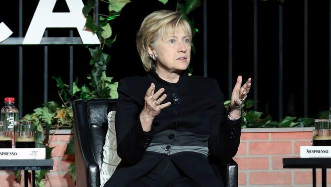 Former Democratic presidential nominee Hillary Clinton.