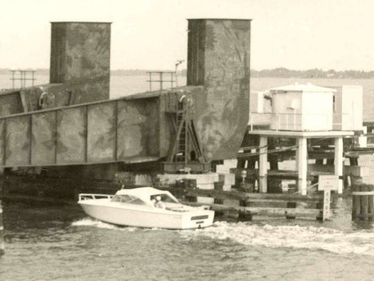 Railroad Bridge over the St. Lucie River in 1969.
