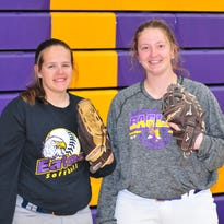 Lifelong friends team on two no-hitters for Eaton softball