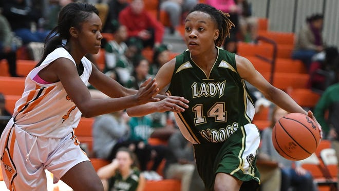 Berea's Jashiya Henderson (14) was honored as Greenville County Girls Basketball Player of the Week.