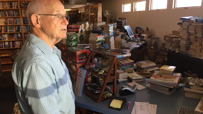 Jim Atkins opened Earl Plaza Books in 1975. His son ran it for the past 23 years. As the store prepares to close, Atkins is hoping to find someone to take over the store by the end of September.