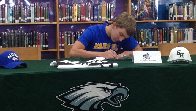 East Henderson senior Taylor Noble has signed to play college baseball for Mars Hill.