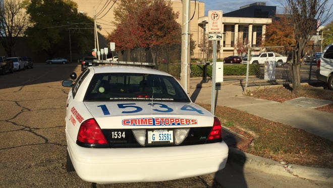 This Jackson Police Department car has been parked in this no parking/tow away zone for five days.
