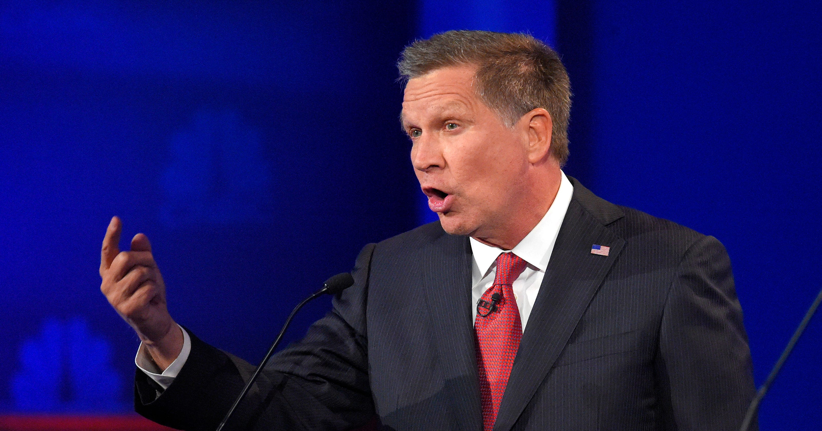 John Kasich clashes with Donald Trump in CNBC's GOP debate