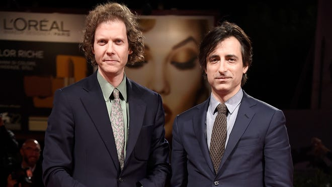 """Directors Jake Paltrow and Noah Baumbach attend a premiere for """"De Palma"""" during the 72nd Venice Film Festival at Sala Grande on September 9, 2015 in Venice, Italy."""