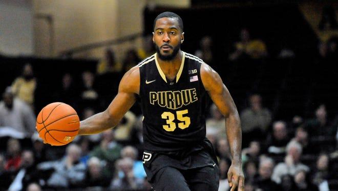 Purdue Boilermakers guard Rapheal Davis (35)  drives to the basket against Vanderbilt at Memorial Gym, Dec. 13. Vanderbilt won 81-71.