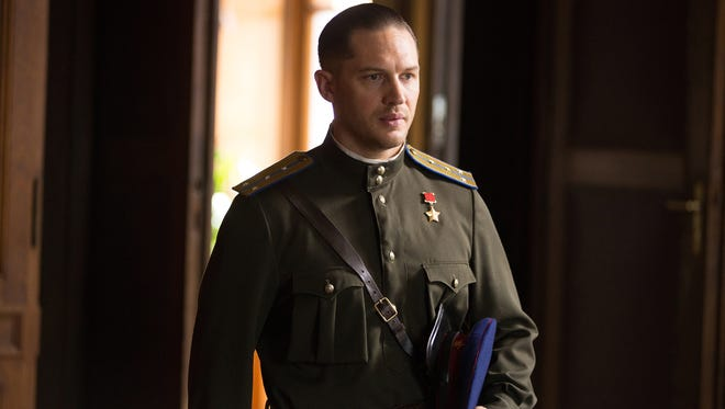 "Tom Hardy plays a Soviet operative who tracks a child killer in ""Child 44."""