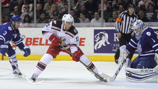 Grand Rapids Griffins forward Andreas Athanasiou.