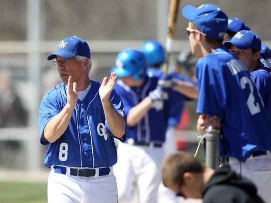 Oshkosh West baseball coach Tony Gerharz was inducted