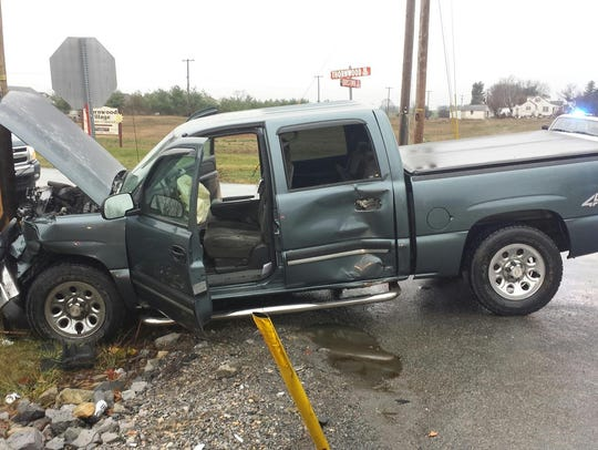 This truck was involved in an accident at the Thornwood