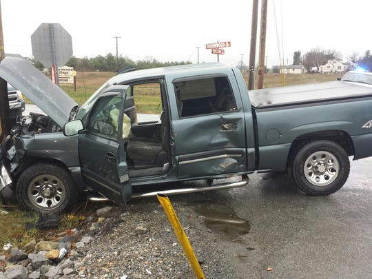 This truck was involved in an accident at the Thornwood Road/Pa. 533 intersection on Dec. 17, hours after PennDot denied Southampton Township's request to take action to improve safety there.