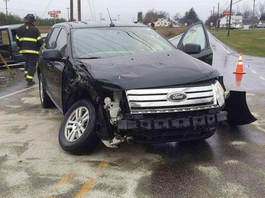 This SUV was also involved in the Dec. 17 accident at the intersection of Thornwood Road and Pa. 533.
