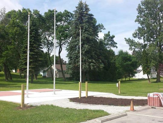 Blank bricks have been installed at the Memorial Brick