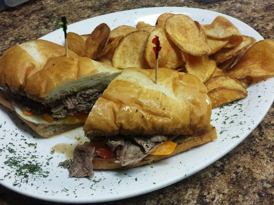 The French dip is among the most popular menu items