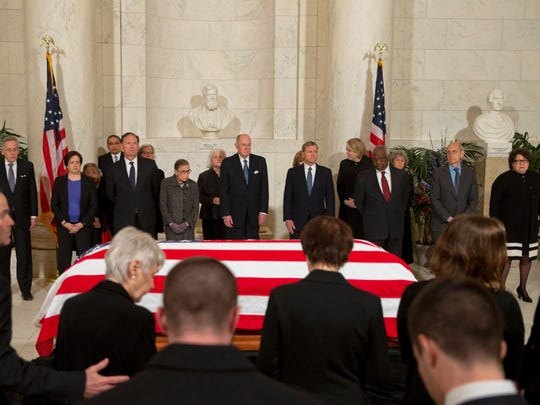 The death of Justice Antonin Scalia, here being mourned