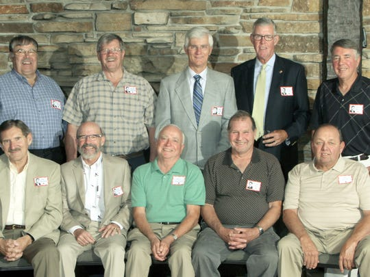 Pictured are Jim Brezinski, front row from left, Jim Pfiffner, Fred Jaworski, Richard Karch, Gary Konop; Ron Ligman, back row from left, Allan Marschke, Jim Fox, Lee Wnuk and Dave Borski.