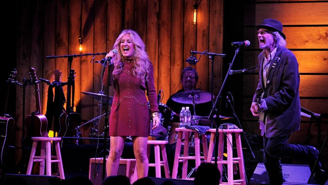 """Lee Ann Womack and Buddy Miller perform """"Does My Ring Burn Your Finger"""" at City Winery."""