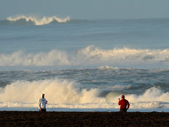 With a tsunami warning in effect for Northern California