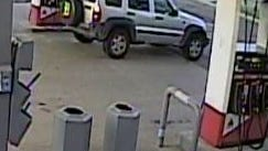 """Brighton police say the driver of this silver Jeep Liberty with a large Detroit """"D"""" on the rear wheel cover stole a purse while at the Citgo gas station in Brighton in July"""