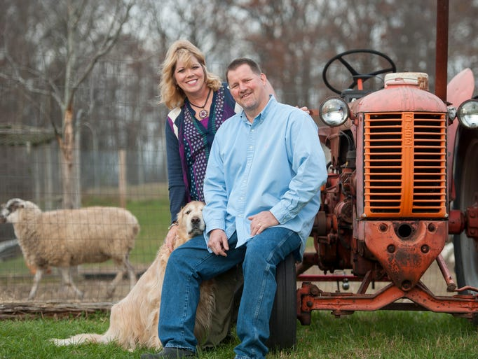 Chef Steve Allen, his wife, Terri, and their dog, Harrison,