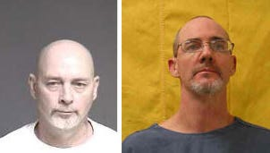 Clyde Fields, left, and Larry Tumbleson, right, were sentenced Wednesday in connection with a December home invasion and robbery in Morrow.