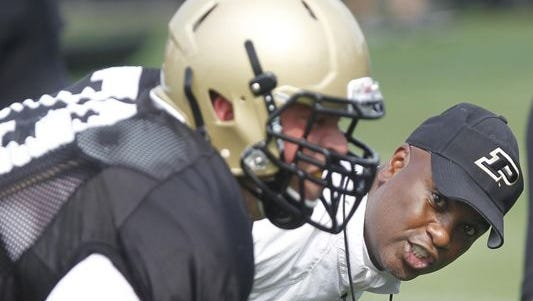Darrell Hazell during Purdue football training camp.