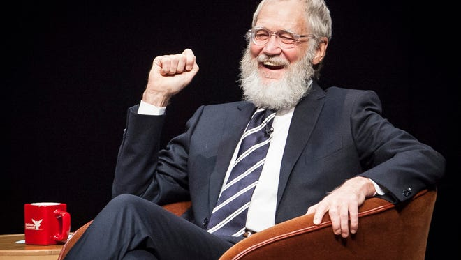 David Letterman returned to Ball State's campus Monday night to hold a talk with filmmakers Spike Jonze and Bennett Miller in front of a packed Emens Auditorium.