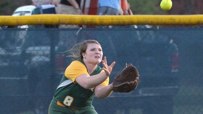 Callie Harris and Reynolds beat Central Cabarrus, 8-7, in Tuesday's first round of the NCHSAA 3-A softball playoffs.