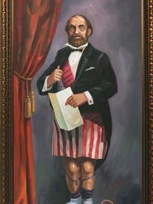 """This image released by Van Eaton Galleries shows an original """"stretching portrait"""" from Disneyland's Haunted Mansion attraction, one of many pieces of Disney memorabilia that will be up for auction. The portrait brought in $172,500. The gallery announced Monday, Nov. 21, 2016, that the auction raised more than $1.2 million."""