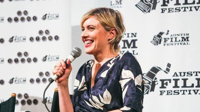 Greta Gerwig appears at Austin Film Festival in 2017.