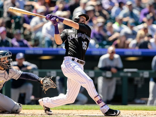 USP MLB: SAN DIEGO PADRES AT COLORADO ROCKIES S BBN COL SD USA CO