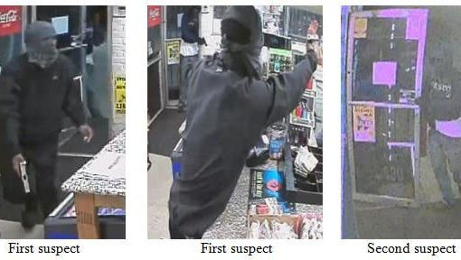 Police are searching for two men who are accused of robbing the Smart Fill at 4306 N. Davis Highway in Pensacola on Monday, May 22, 2017.