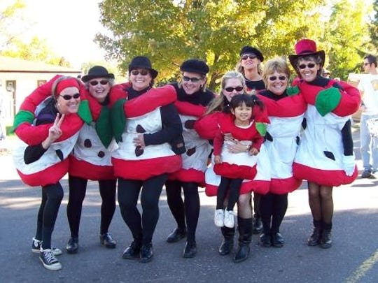 The Apple Core dancers are just one of the sights to see during the Apple Festival grand parade.