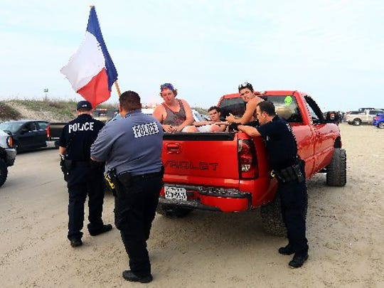 Police officers from Port Aransas Police Department